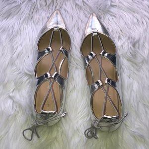 LOEFFLER RANDALL Ambra pointy toe lace shoes NWT